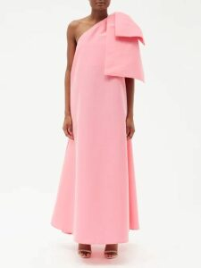 Redvalentino - Broderie Anglaise Cotton Midi Dress - Womens - Black