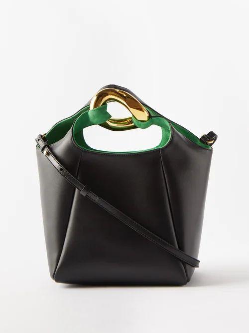 No. 21 - Ruched Tie Back Glossed Poplin Dress - Womens - Burgundy
