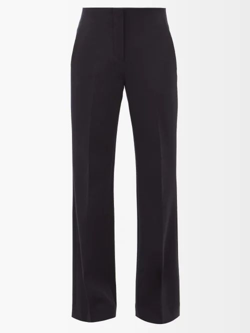 Mame Kurogouchi - Floral Print Silk Blend Fil Coupé Coat - Womens - Navy Multi