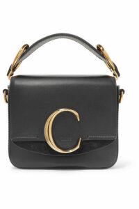 Chloé - Chloé C Mini Suede-trimmed Leather Shoulder Bag - Black