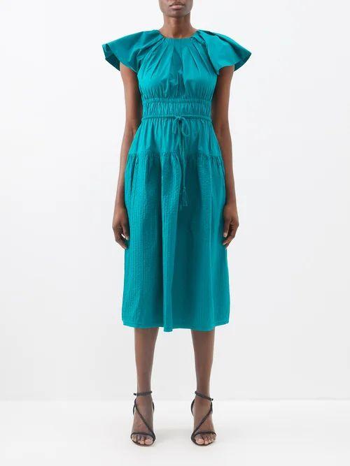 Nico Giani - Nelia Large Top Handle Leather Bucket Bag - Womens - Tan