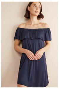 Womens Next Navy Bardot Dress -  Blue