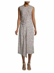 Floral-Print Sleeveless Shift Dress