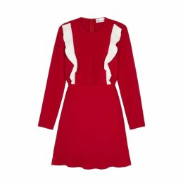 RED Valentino Red Ruffle-trimmed Dress