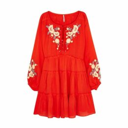 Free People Spell On You Embroidered Rayon Dress