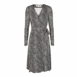 Diane Von Furstenberg Elowen Printed Jersey Midi Wrap Dress
