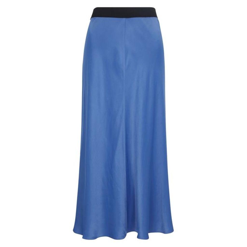 BY MALENE BIRGER Blue Satin Midi Skirt