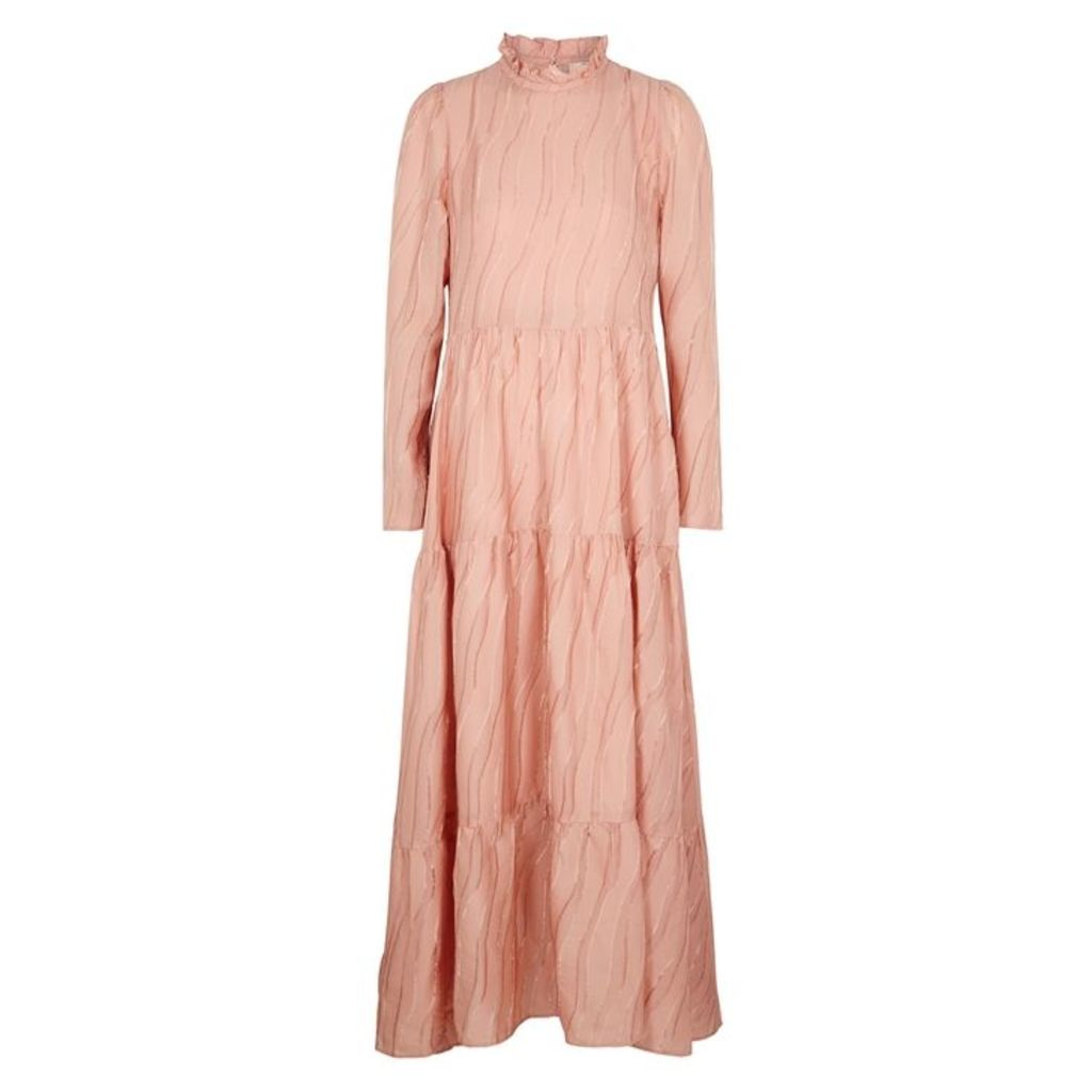 Stine Goya Judy Pink Freyed Devoré Dress