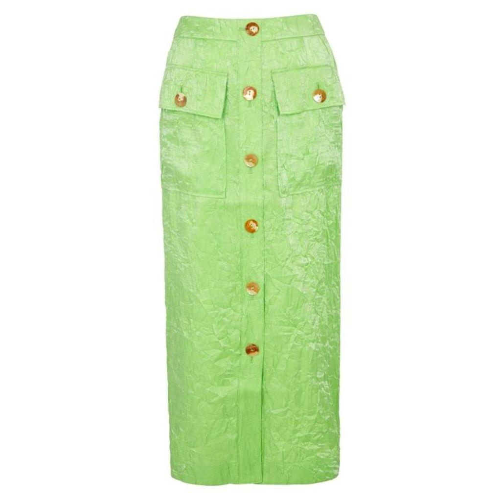Rejina Pyo Lily Lime Button-embellished Skirt
