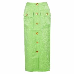 Rejina Pyo Lily Lime Button-embellished Skirt