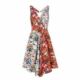 Mary Katrantzou Butterfly-print Satin-faille Dress