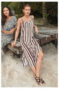 Womens Next Tie Dye Midi Slip Dress -  Pink