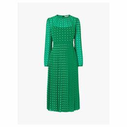 L.K.Bennett Avery Spot Dress, Green