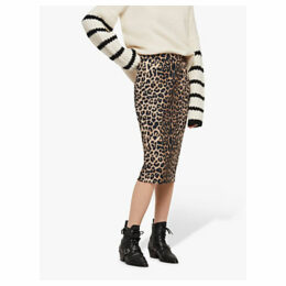 AllSaints Alie Animal Print Midi Skirt