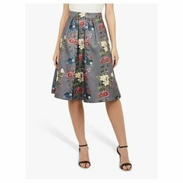 Ted Baker Bevly Floral Skirt, Grey Mid
