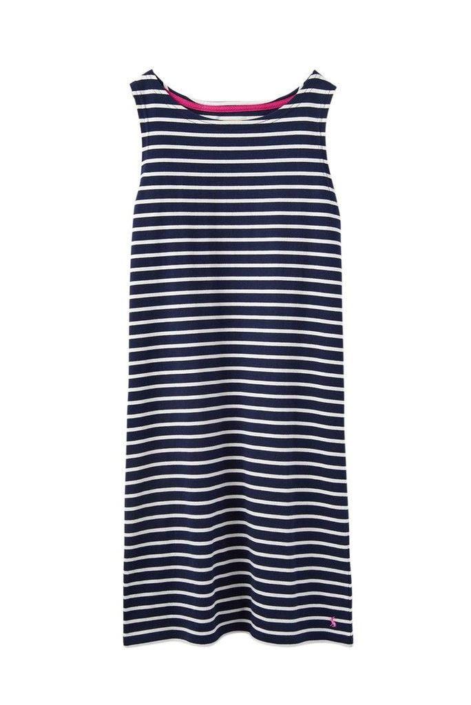 Womens Joules Blue Riva Sleeveless Jersey Dress -  Blue