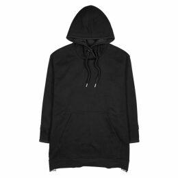 Adidas X Stella McCartney Black Hooded Cotton Sweatshirt