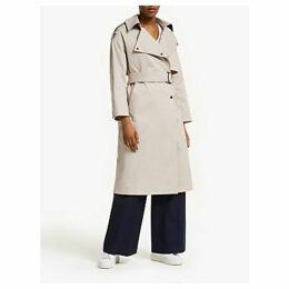 Kin Longline Trench Coat, Natural