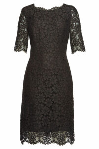 Hugo Kalissy Lace Dress with Cotton