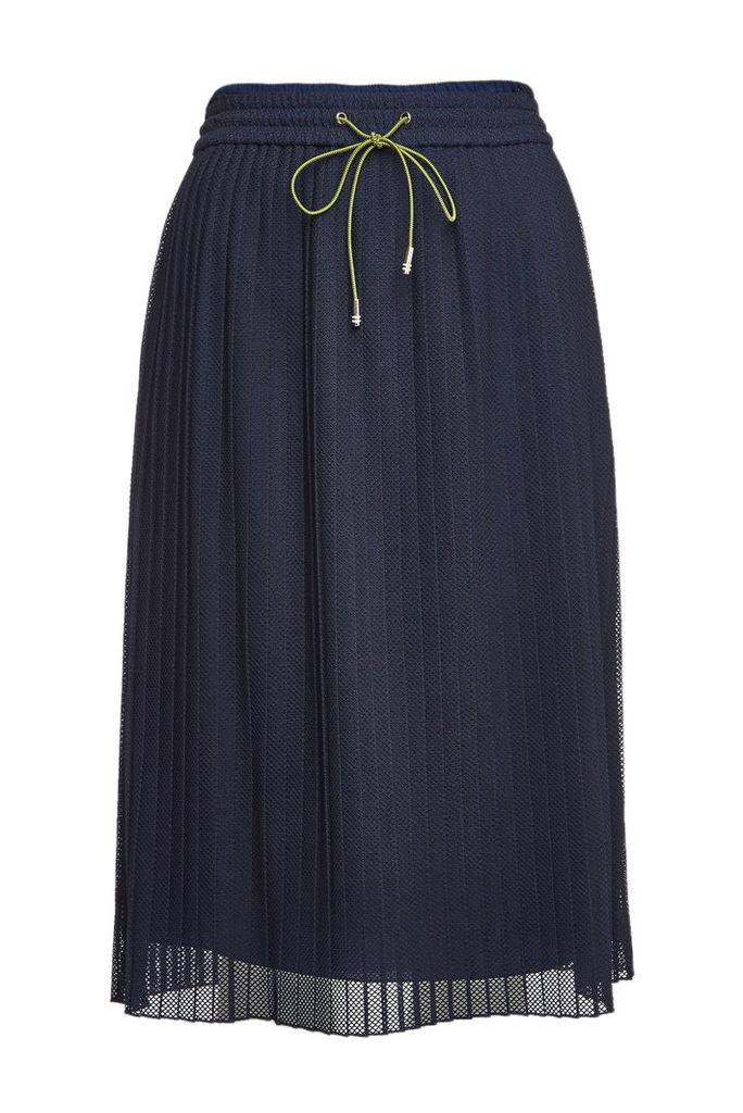 Hugo Replissa Pleated Skirt with Drawstring Waist