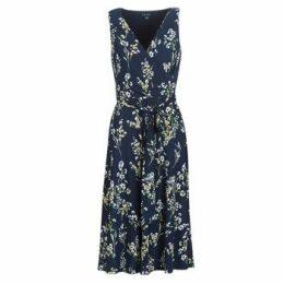 Lauren Ralph Lauren  FLORAL PRINT-SLEEVELESS-DAY DRESS  women's Long Dress in Blue