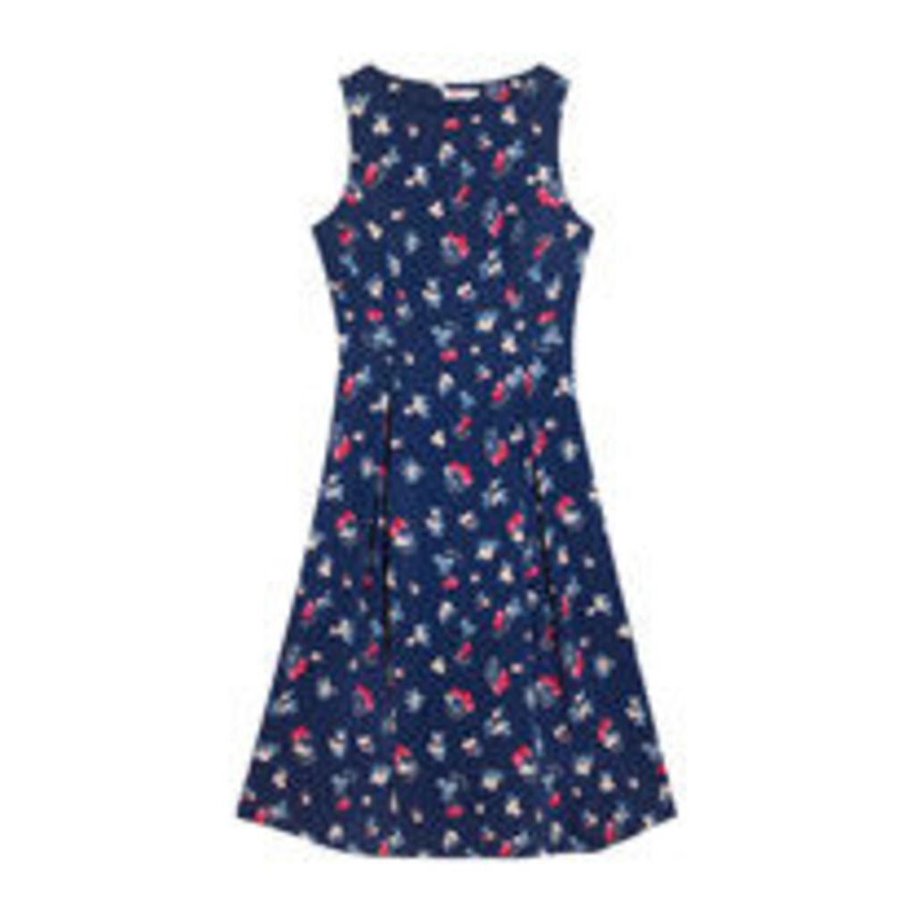 Cherry Happy Sleeveless Cotton Cambric Dress