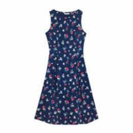 Cherry Happy Sleeveless Cotton Cambric Dress
