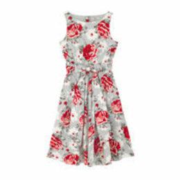 New Rose Bloom Sleeveless Dress