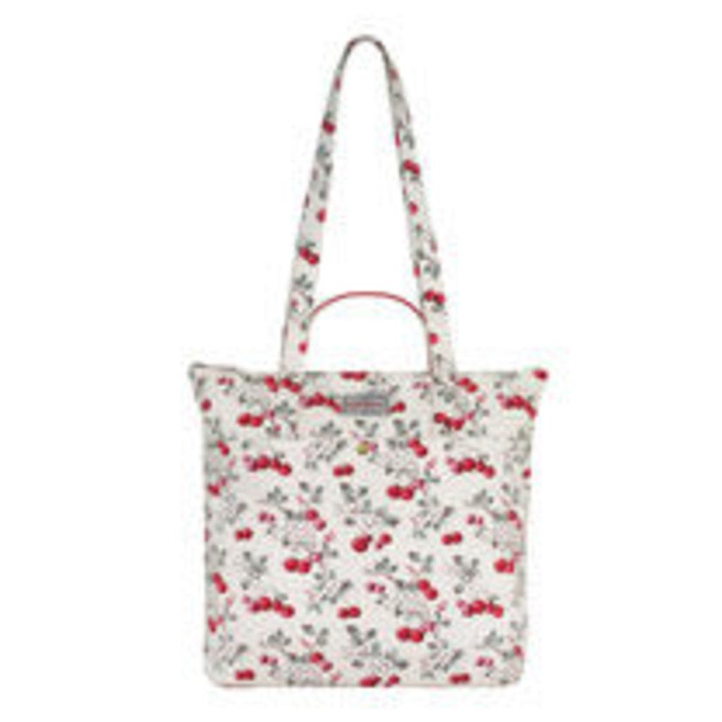 Cherry Sprig Cotton Tote Bag