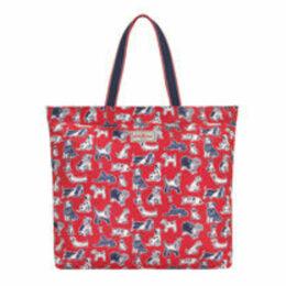 Squiggle Dogs Large Foldaway Tote Bag