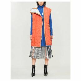 Sleeveless shell parka coat