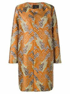 Steffen Schraut embroidered single-breasted coat - Orange