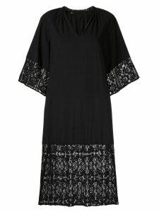 Muller Of Yoshiokubo Bahia lace shift dress - Black
