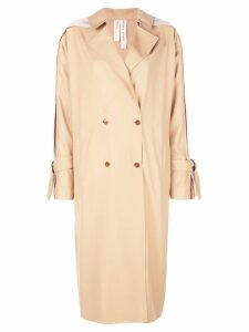 Bodice Studio pleats detail trench coat - Neutrals