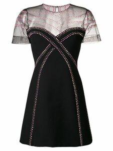 Versace Collection rhinestone-embellished mini dress - Black