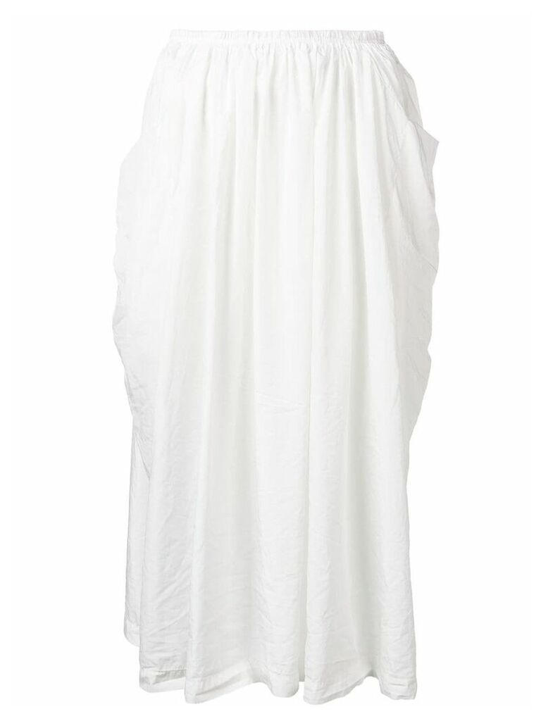 Comme Des Garçons Comme Des Garçons mid-length skirt - White