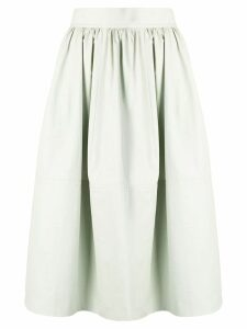 Holland & Holland high-rise flared skirt - Green