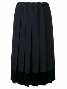 Comme Des Garçons Girl pleated skirt - Blue