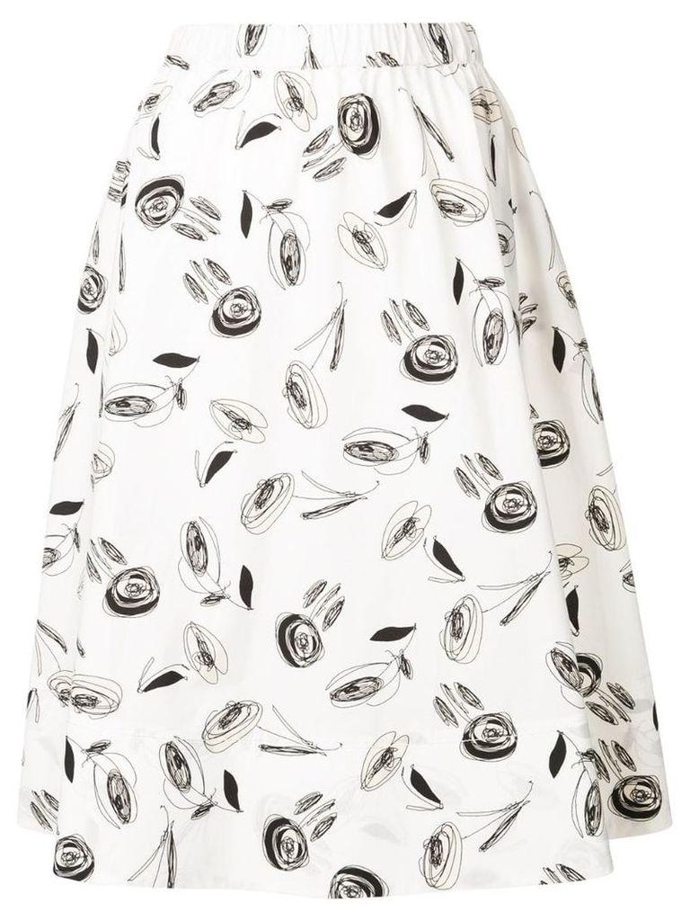 Antonelli floral print midi skirt - White