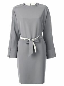 Emporio Armani belted zipped dress - Grey