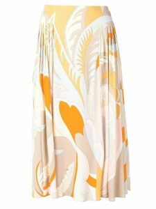 Emilio Pucci floral print fluid skirt - Neutrals