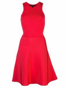 Cushnie ribbed flare dress - Red