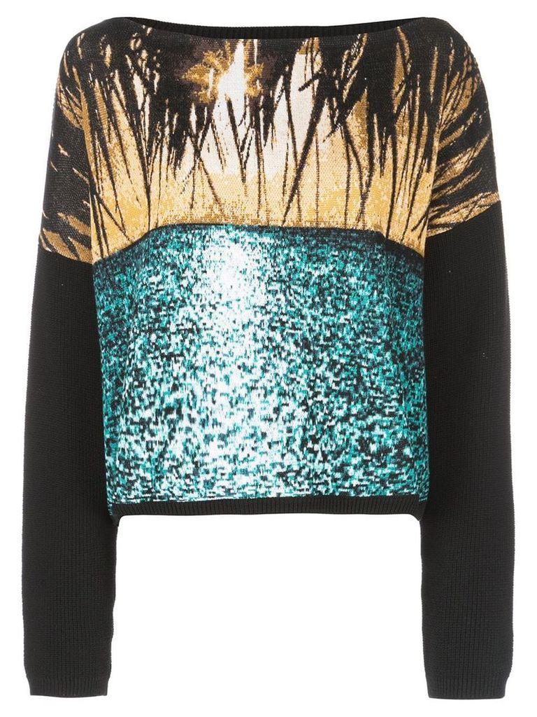 Nº21 graphic knit top - Black