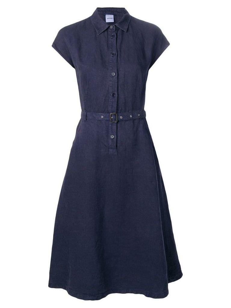 Aspesi belted shirt dress - Blue
