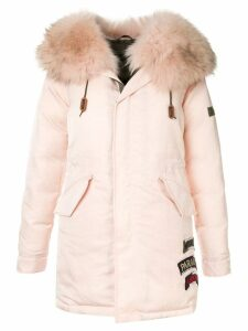 Mr & Mrs Italy fur-trim hooded parka coat - Pink