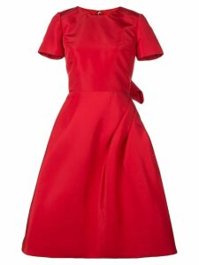 Oscar de la Renta Scarlet short sleeved dress - Red