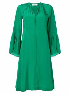 Dorothee Schumacher long-sleeve flared dress - Green