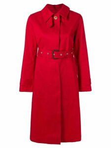 Mackintosh Red & Fawn Bonded Cotton Single-Breasted Trench Coat
