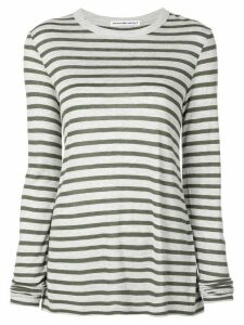 T By Alexander Wang horizontal striped T-shirt - Grey