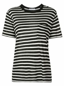T By Alexander Wang horizontal striped T-shirt - Black